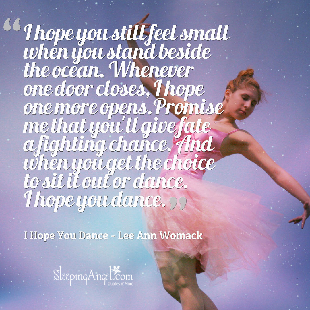 I Hope You Dance Quote