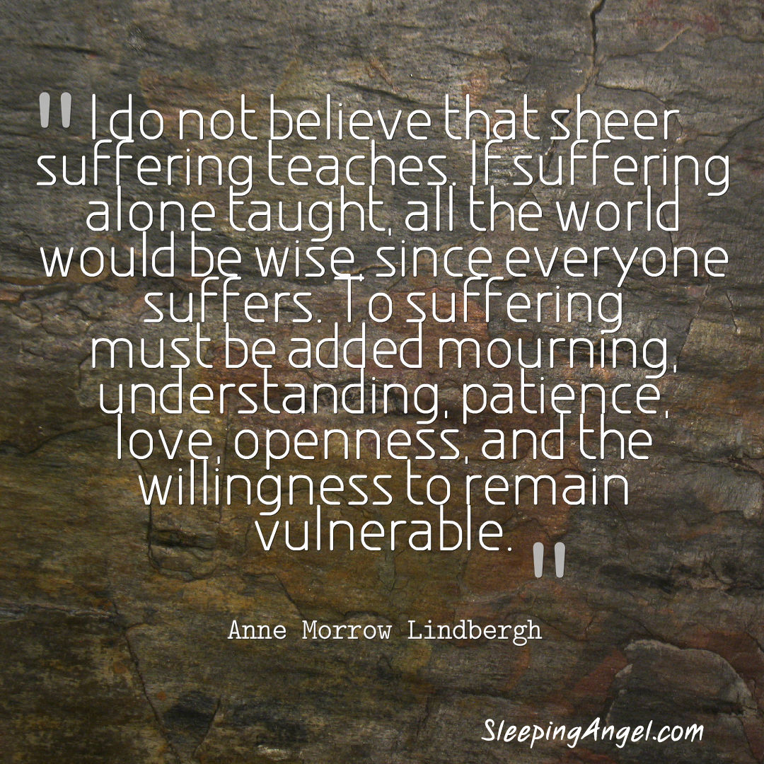 Mourning Quotes Suffering Quote  Sleeping Angel