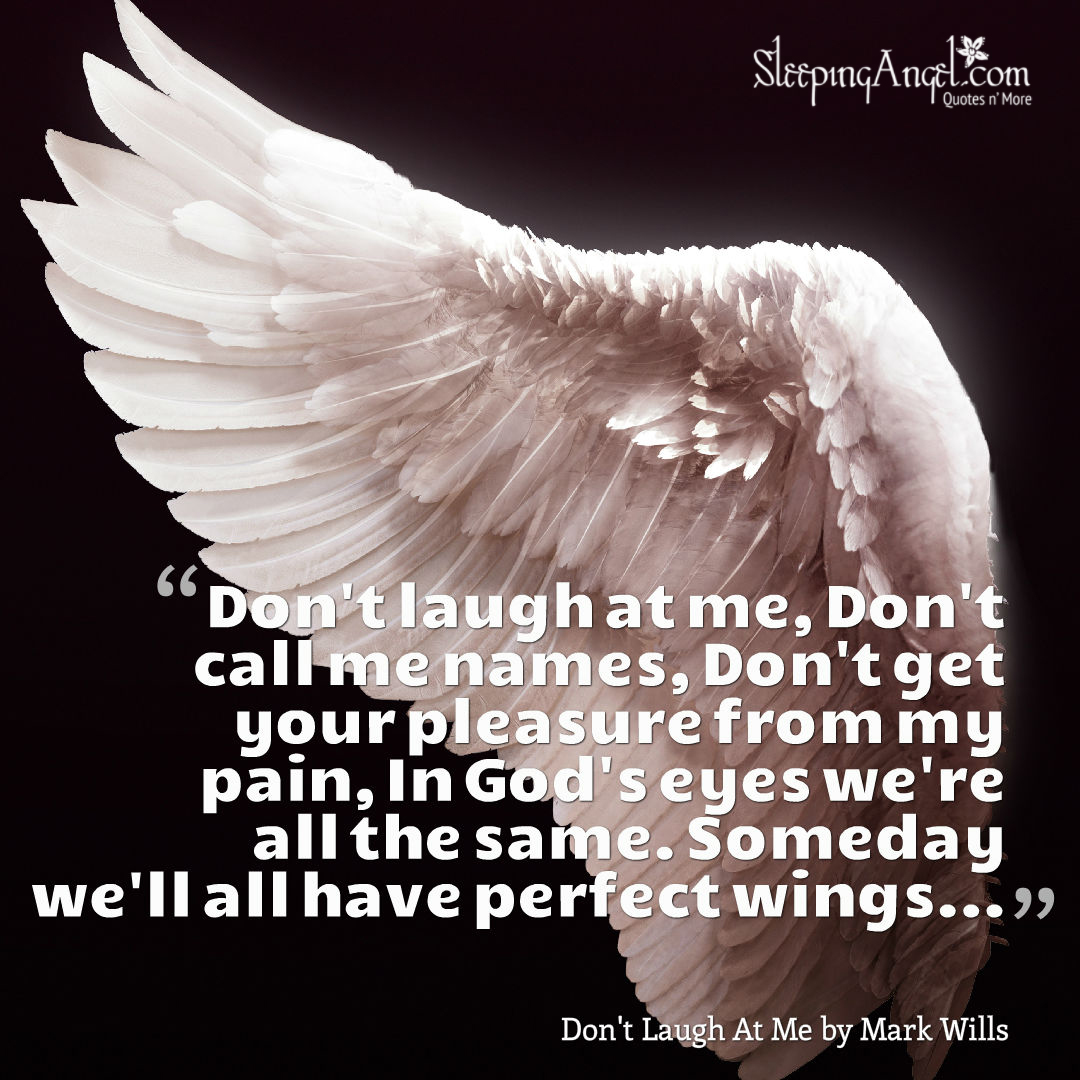 Don't Laugh At Me Song Quote