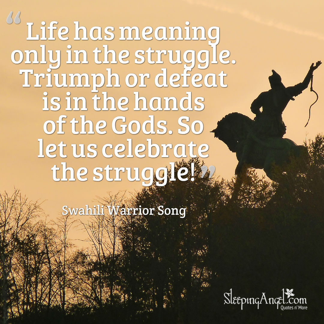 Life Has Meaning In Struggle Quote