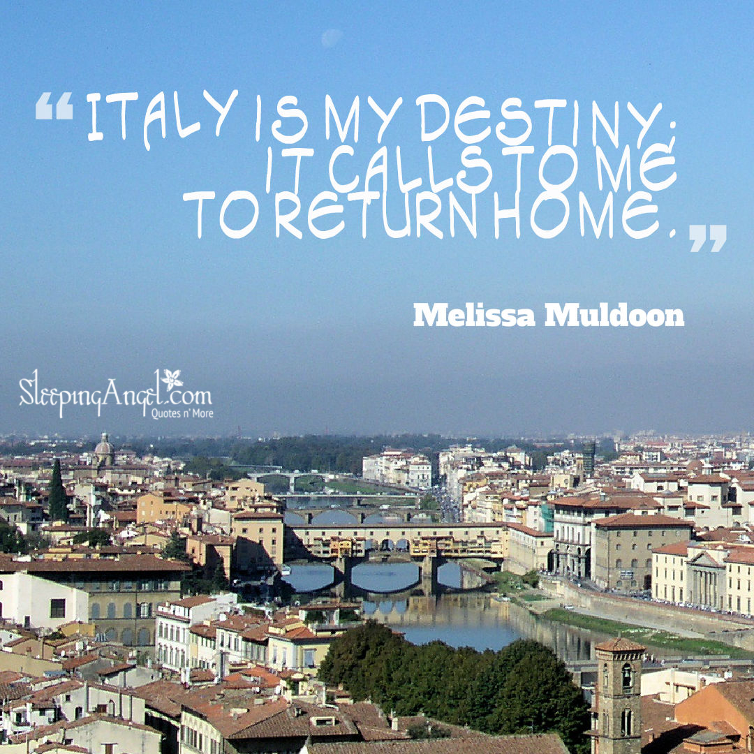Italy Quotes Italy Quote  Sleeping Angel
