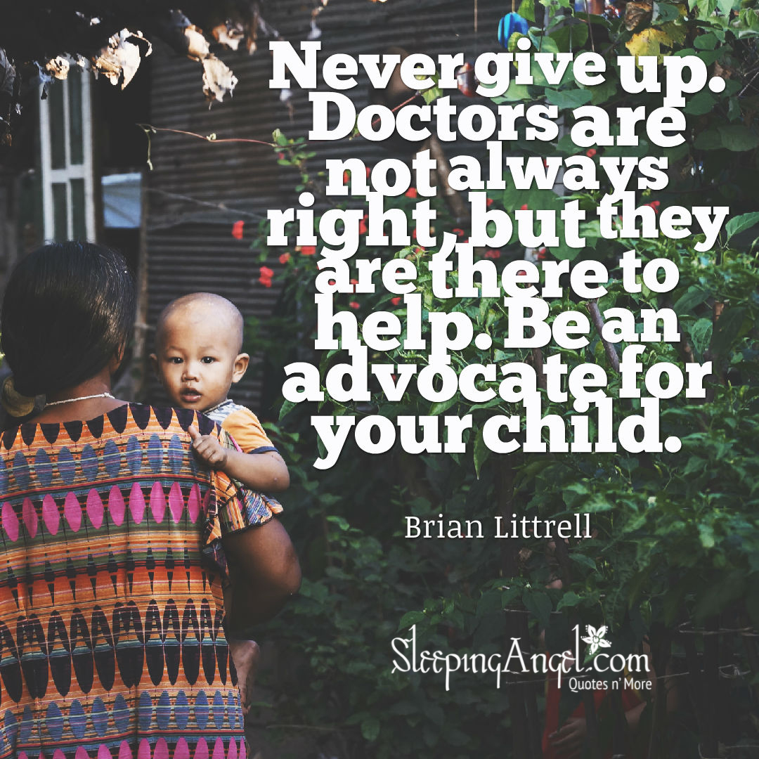 Be an Advocate for your Child Quote