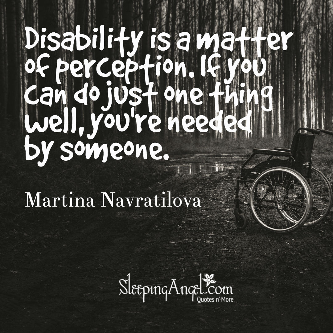 Disability Quotes Best Disability Quote  Sleeping Angel