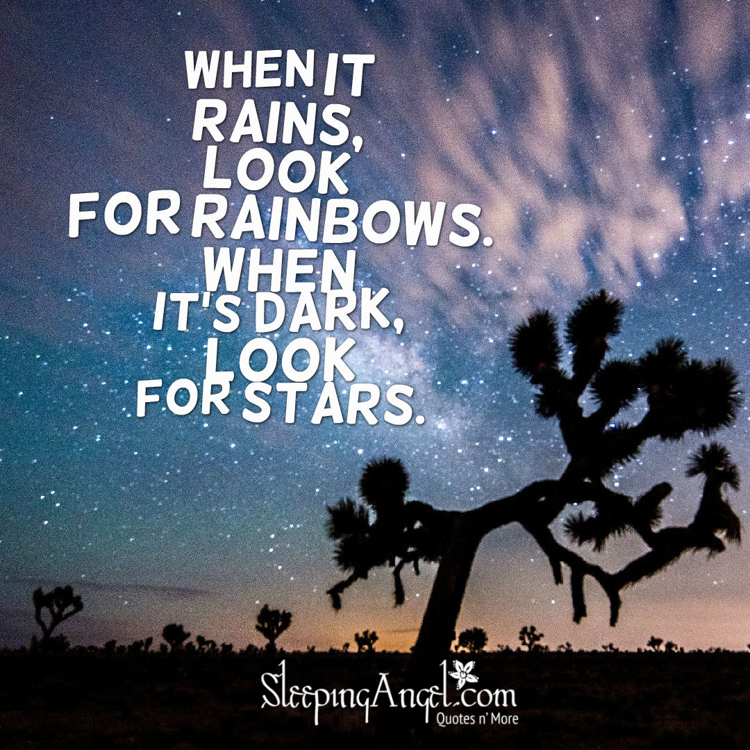 Look for Rainbows & Stars Quote