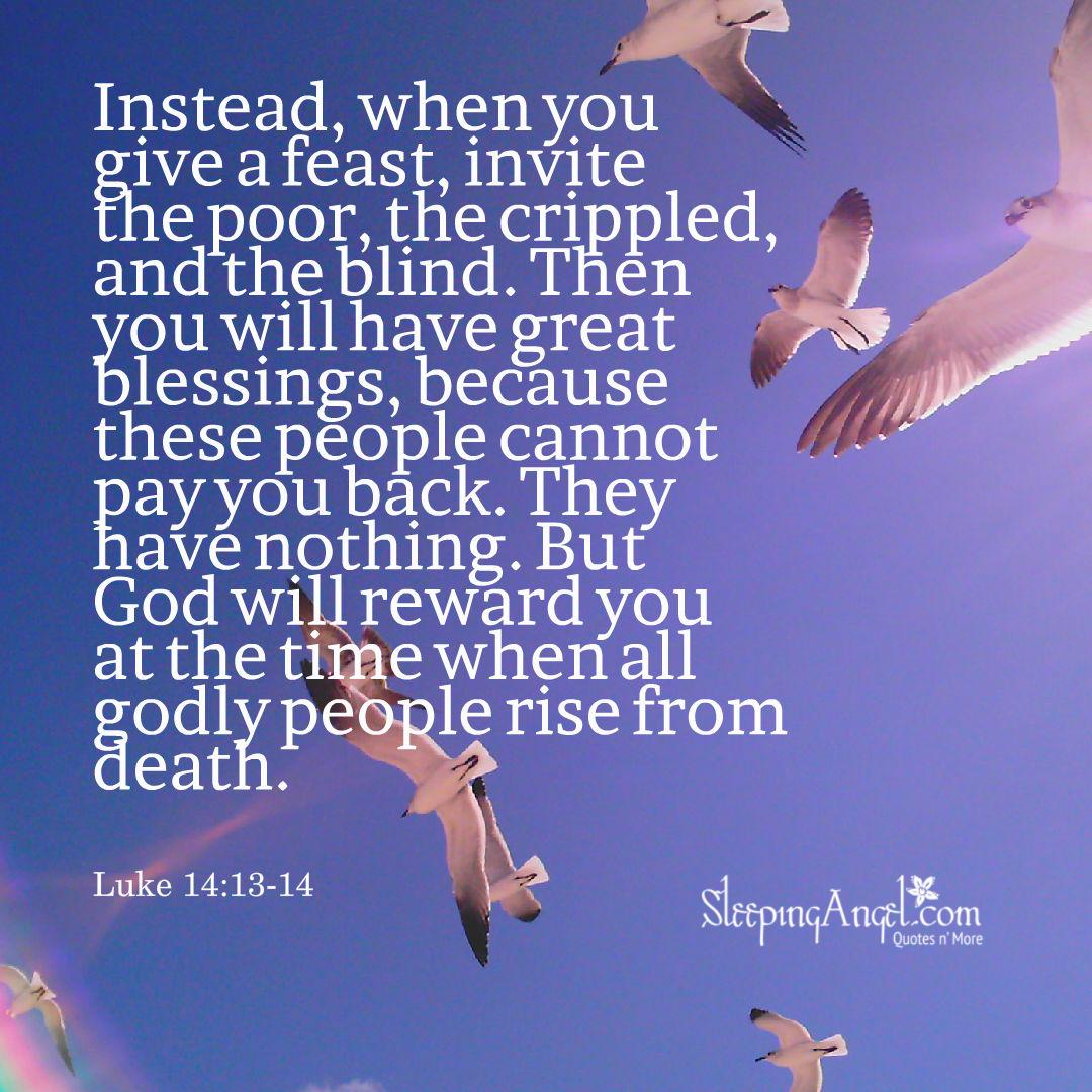 Luke 14:13-14