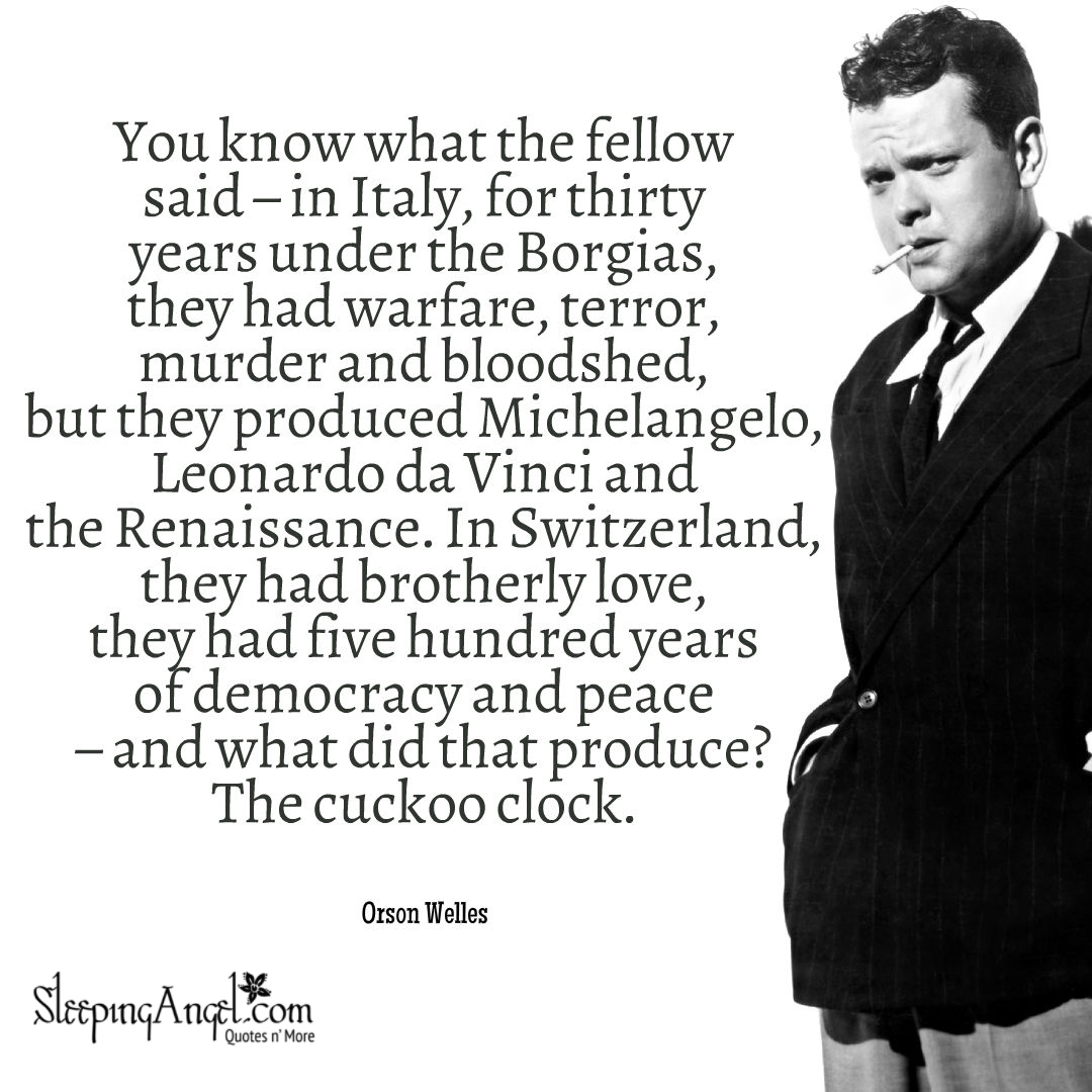 Orson Welles Quotes Orson Welles Quote – Sleeping Angel Orson Welles Quotes