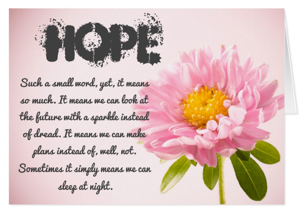 Hope- A Very Special Greeting Card