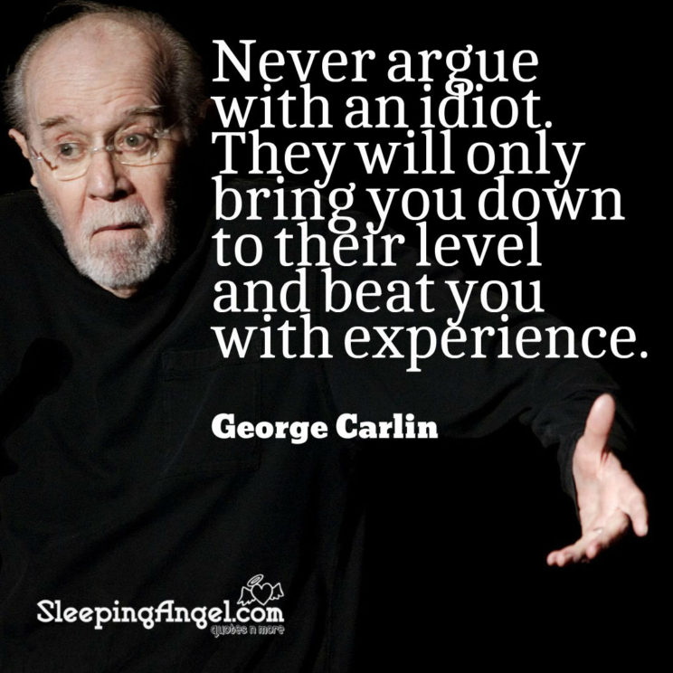 George Carlin Quote – Sleeping Angel