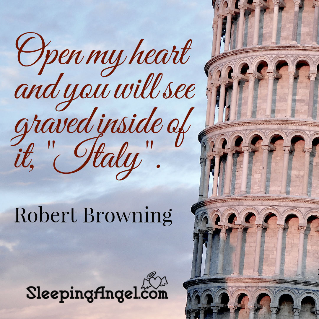 Italy Quotes Italy  Sleeping Angel