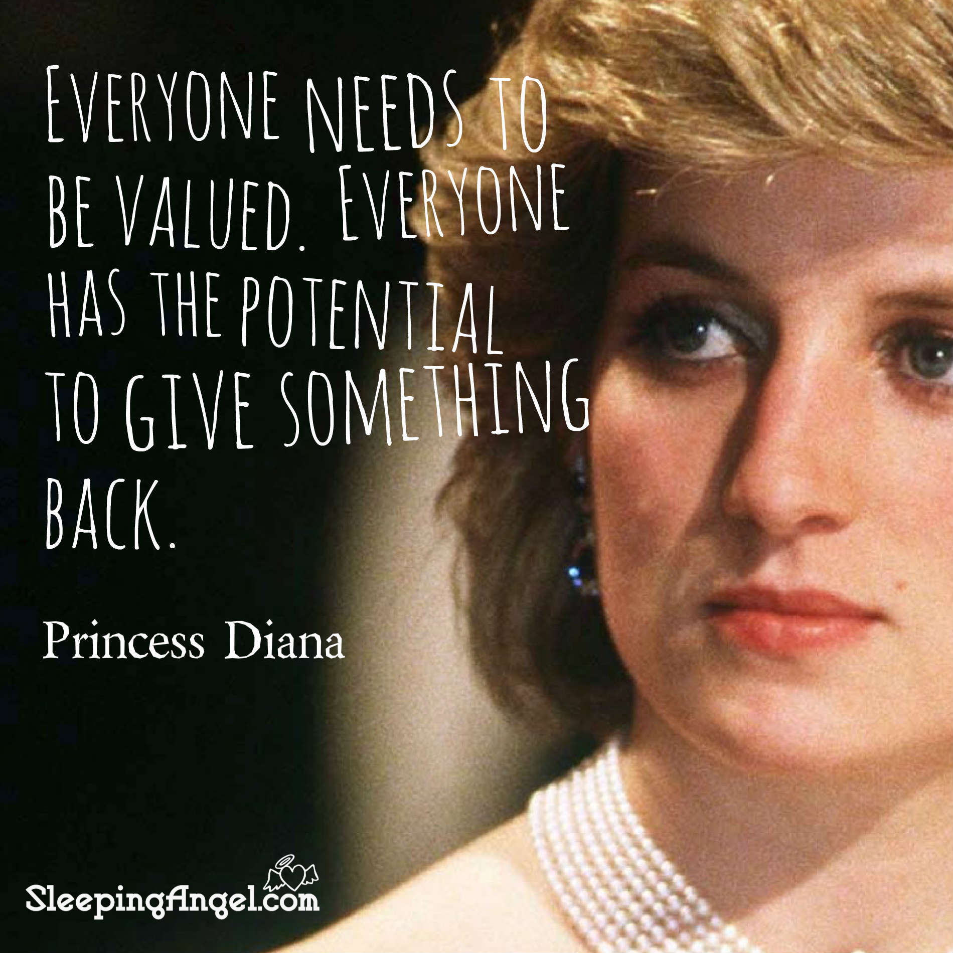 Princess Diana Quote – Sleeping Angel