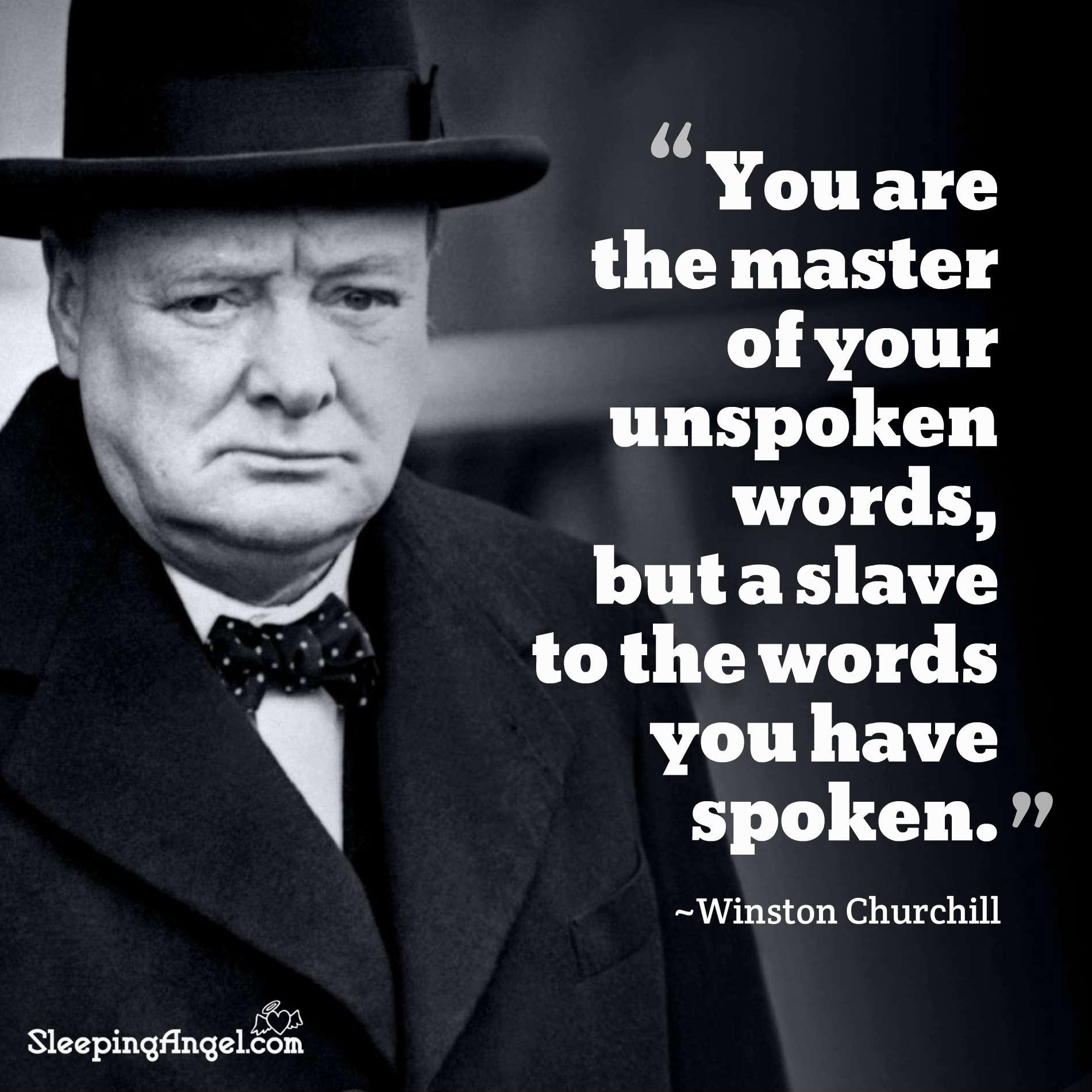 Winston Churchill Quote – Sleeping Angel