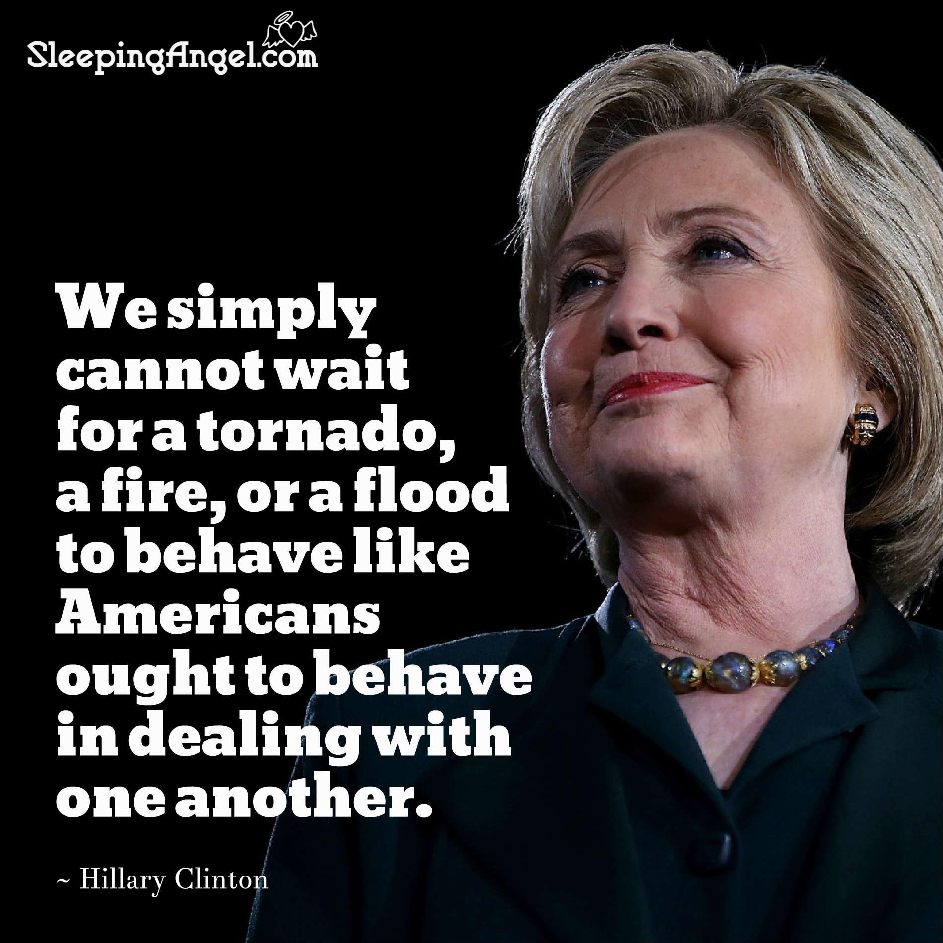 Hillary Clinton Quote Hillary Clinton Quote  Sleeping Angel