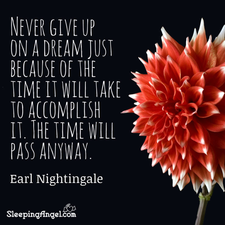 Earl Nightingale Quote Sleeping Angel