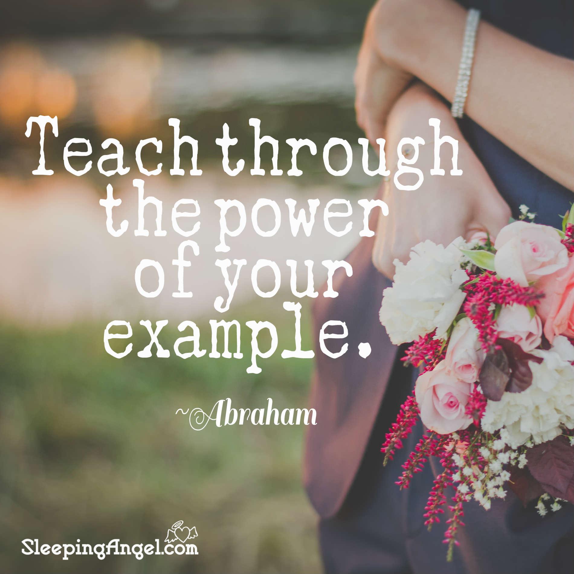 Teach Through Example Quote