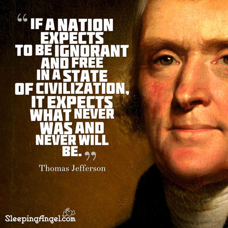 Thomas Jefferson Quote – Sleeping Angel