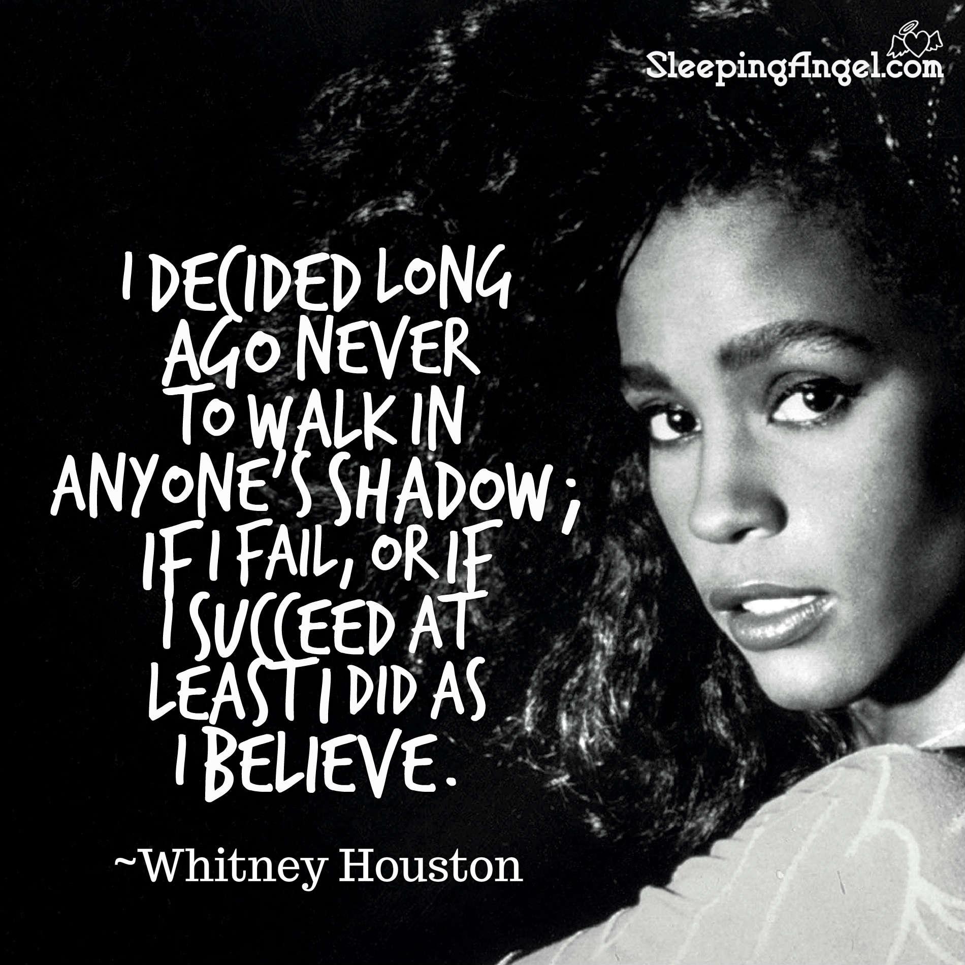 Whitney Houston Quote