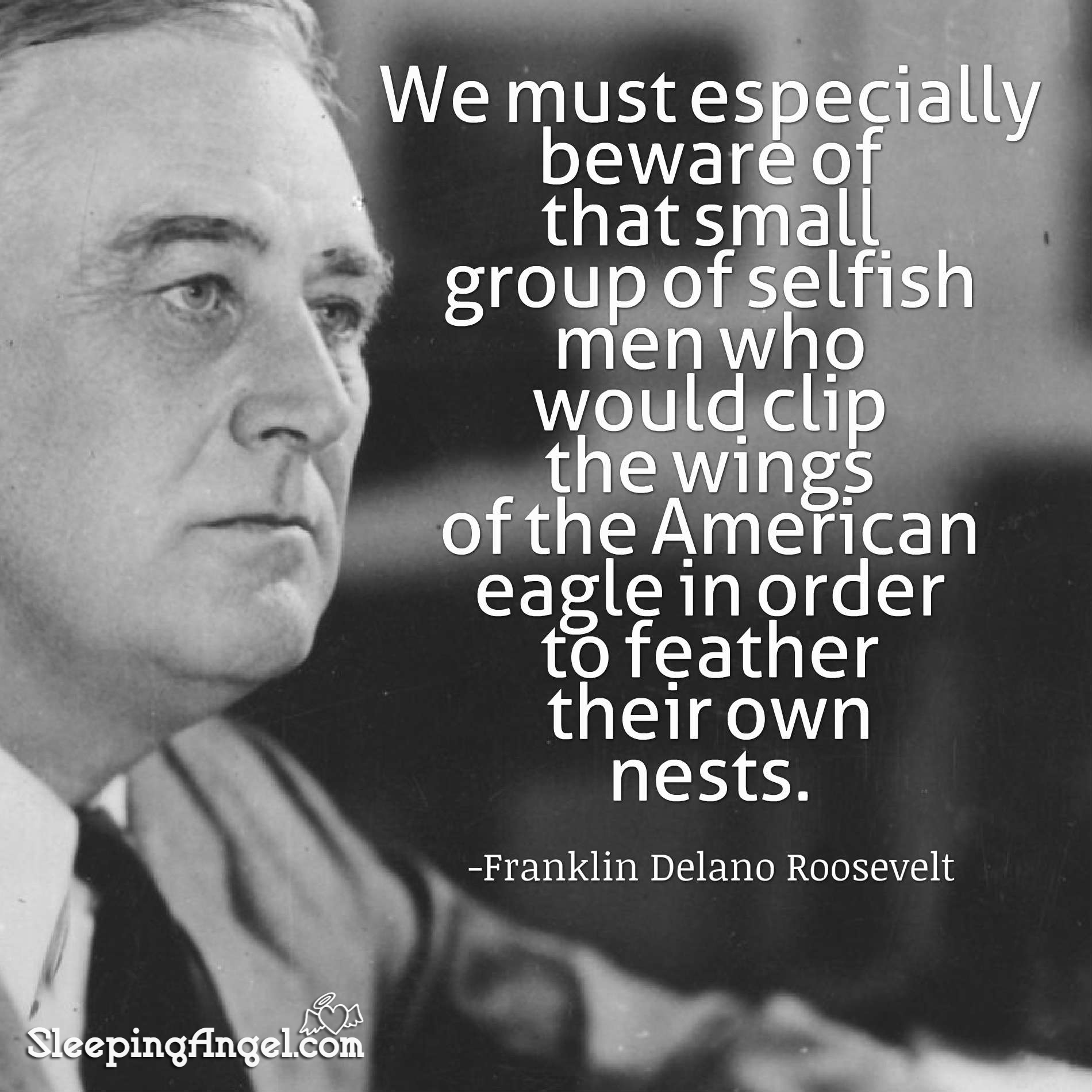 Franklin D Roosevelt Quotes Franklin Delano Roosevelt Quote  Sleeping Angel