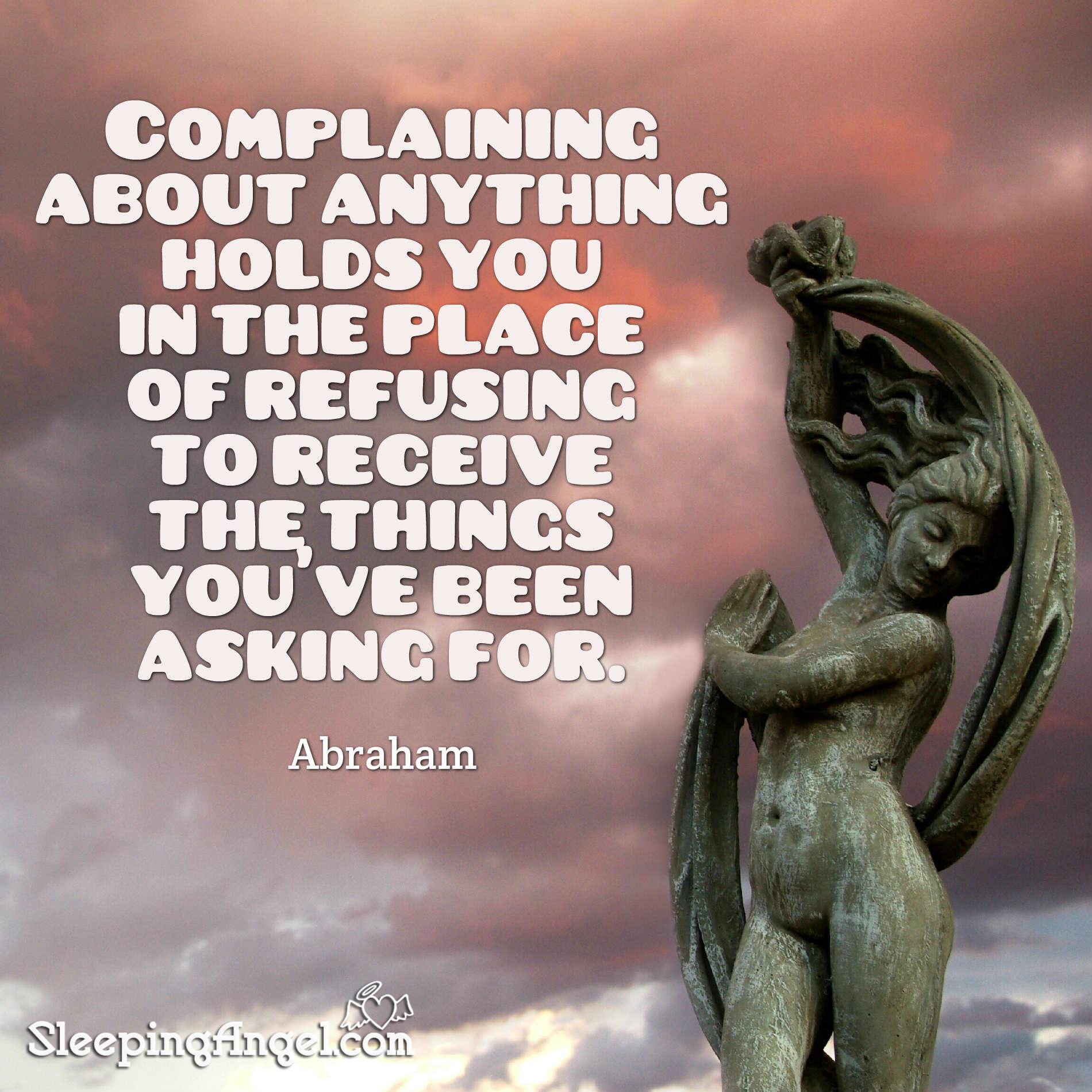 Complaining Quote