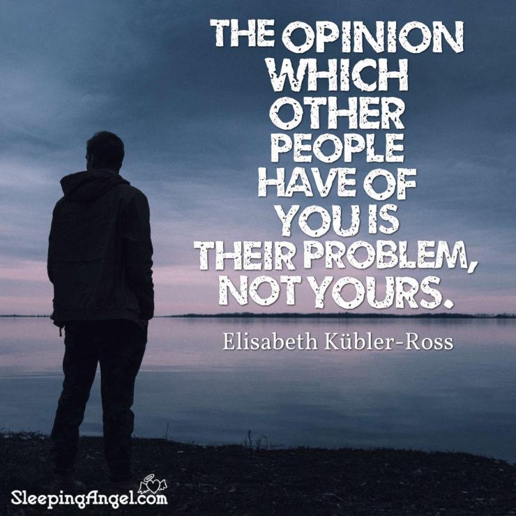 Elizabeth Kübler-Ross Quote – Sleeping Angel