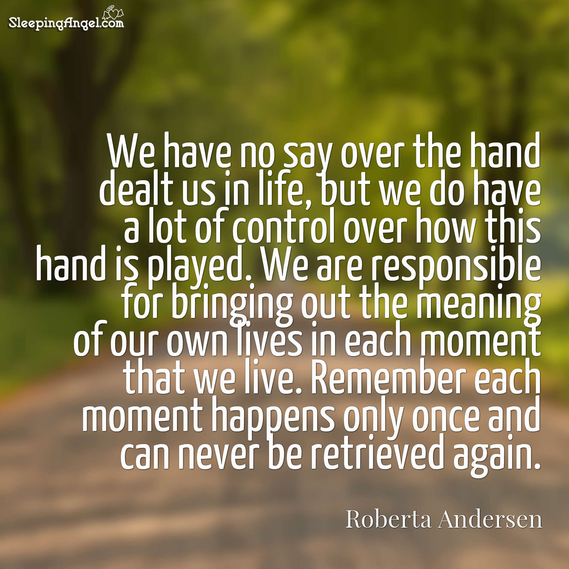Meaning of our Lives Quote