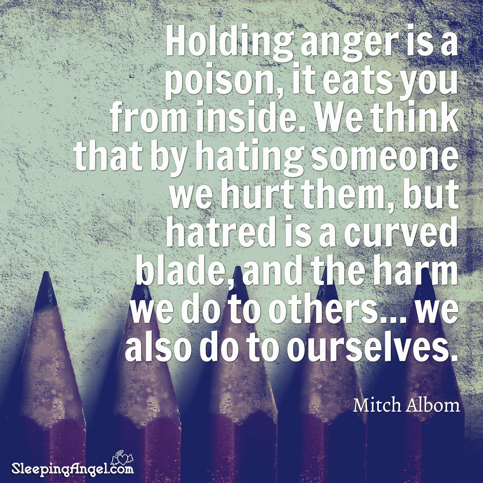 Holding Anger Quote