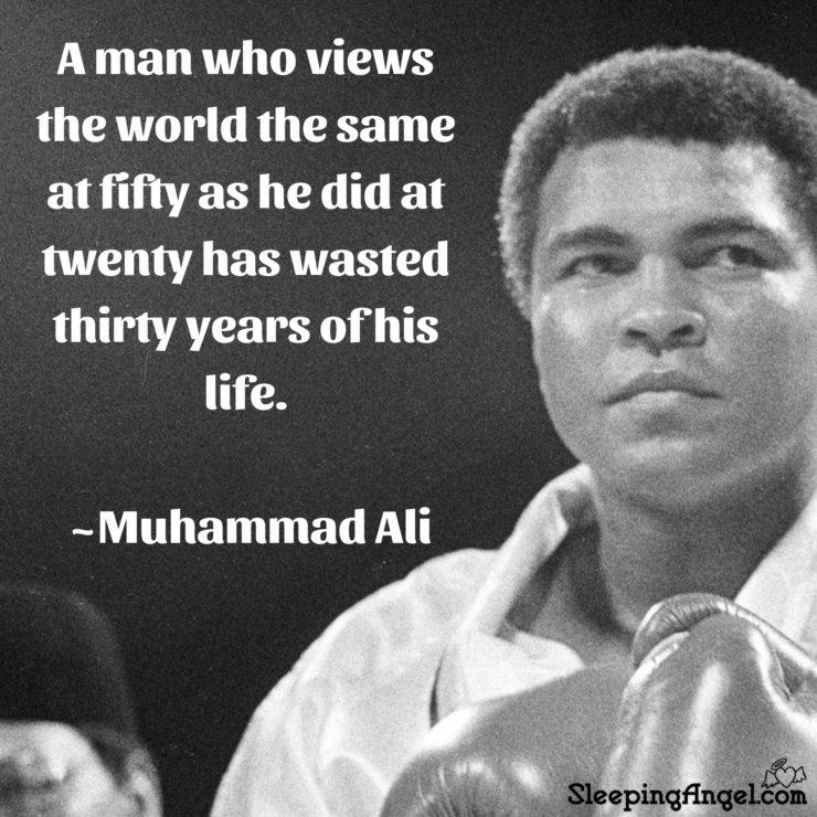 Muhammad Ali Quote – Sleeping Angel