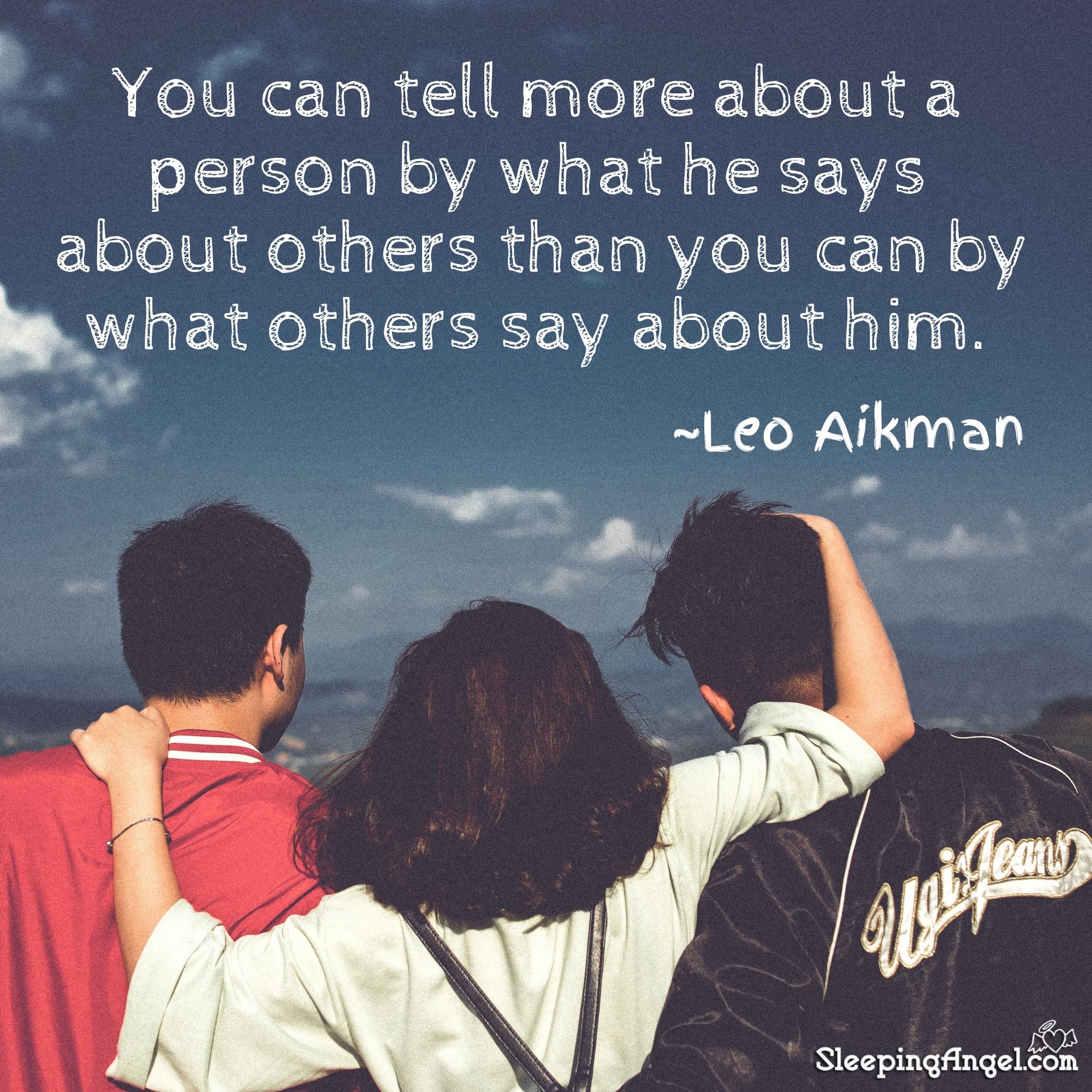 Leo Aikman Quote