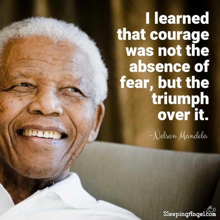 Nelson Mandela Quote Sleeping Angel