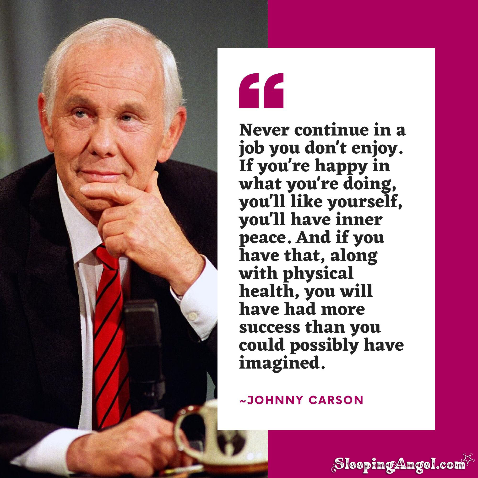 Johnny Carson Quote
