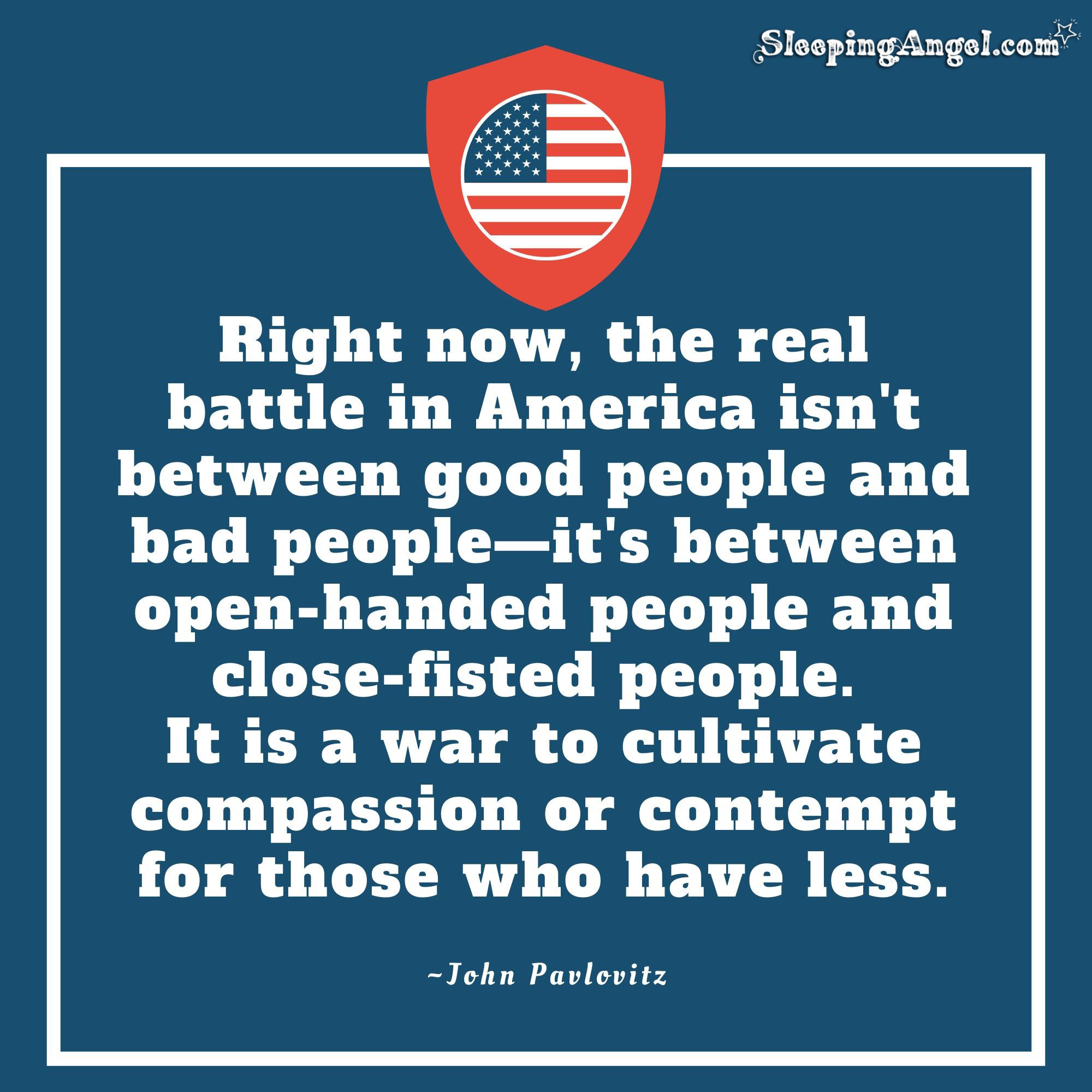 The Battle In America Quote