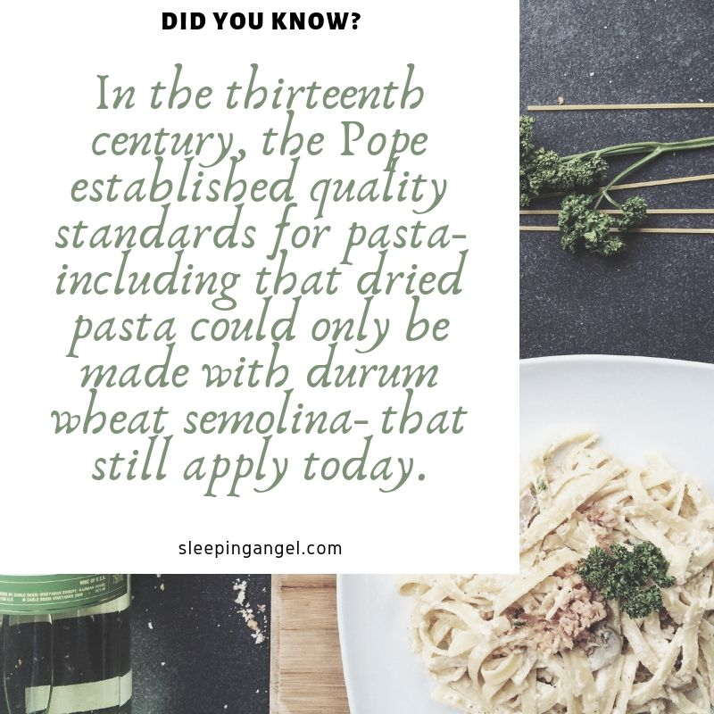 Did You Know? Pasta