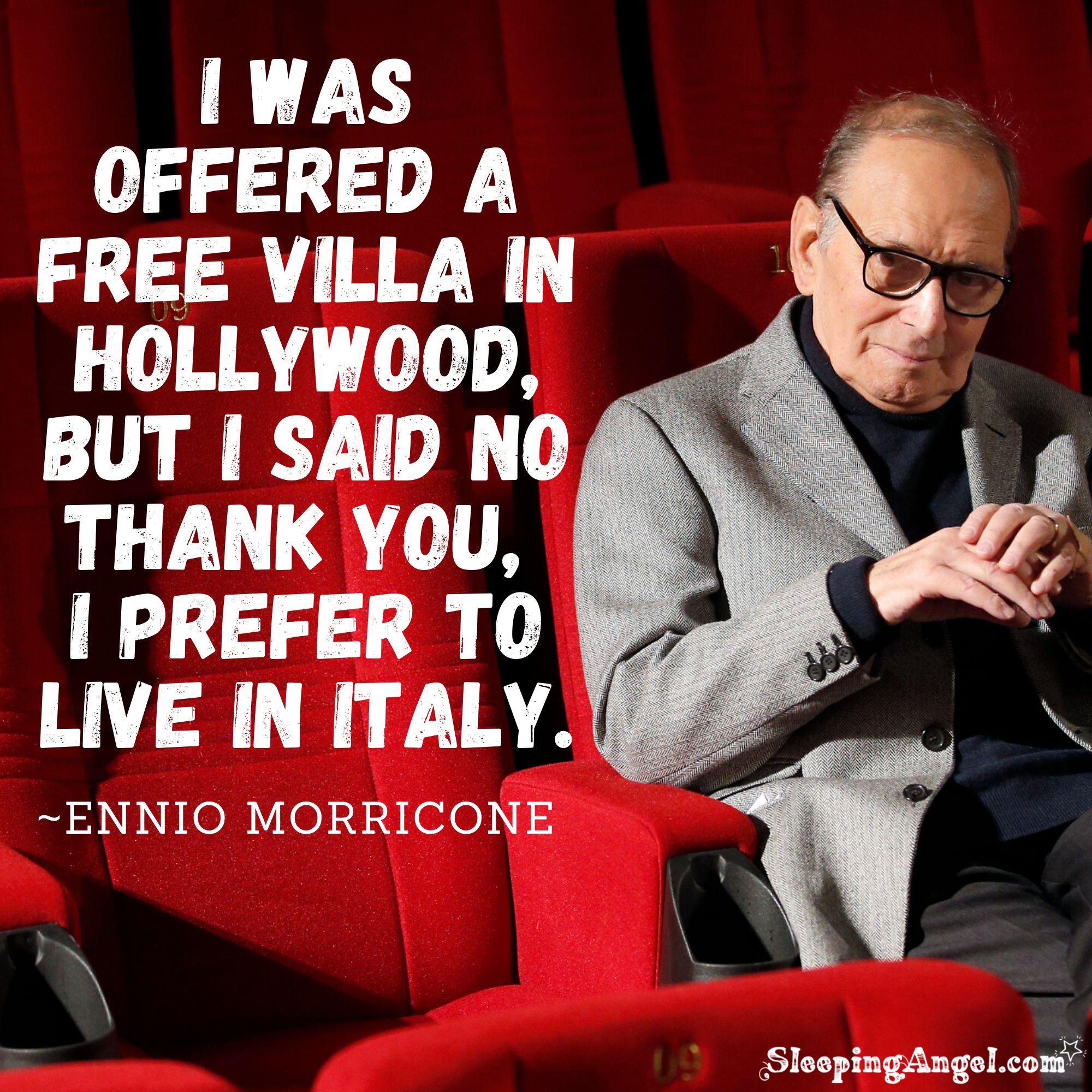 Ennio Morricone Quote