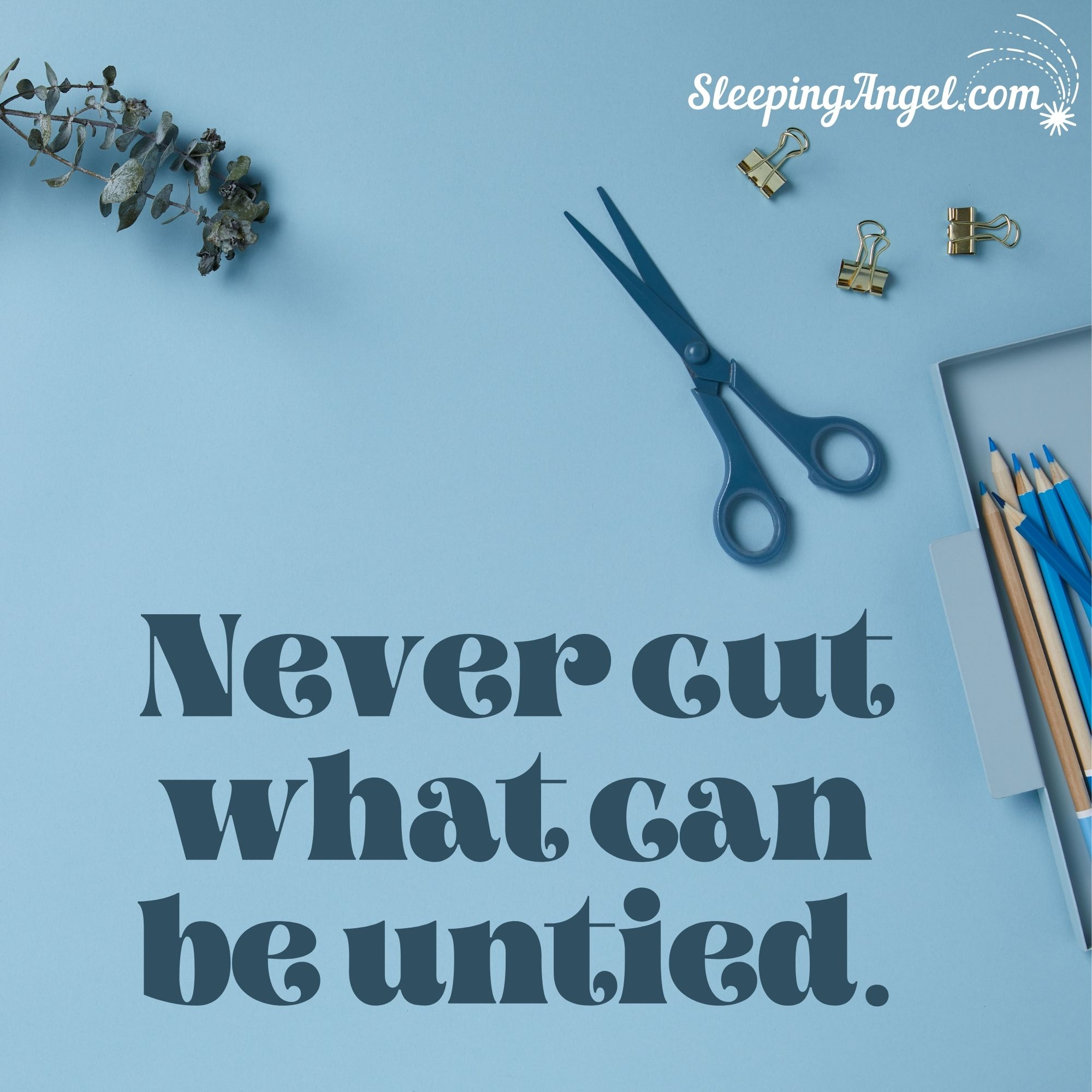 Never Cut Quote