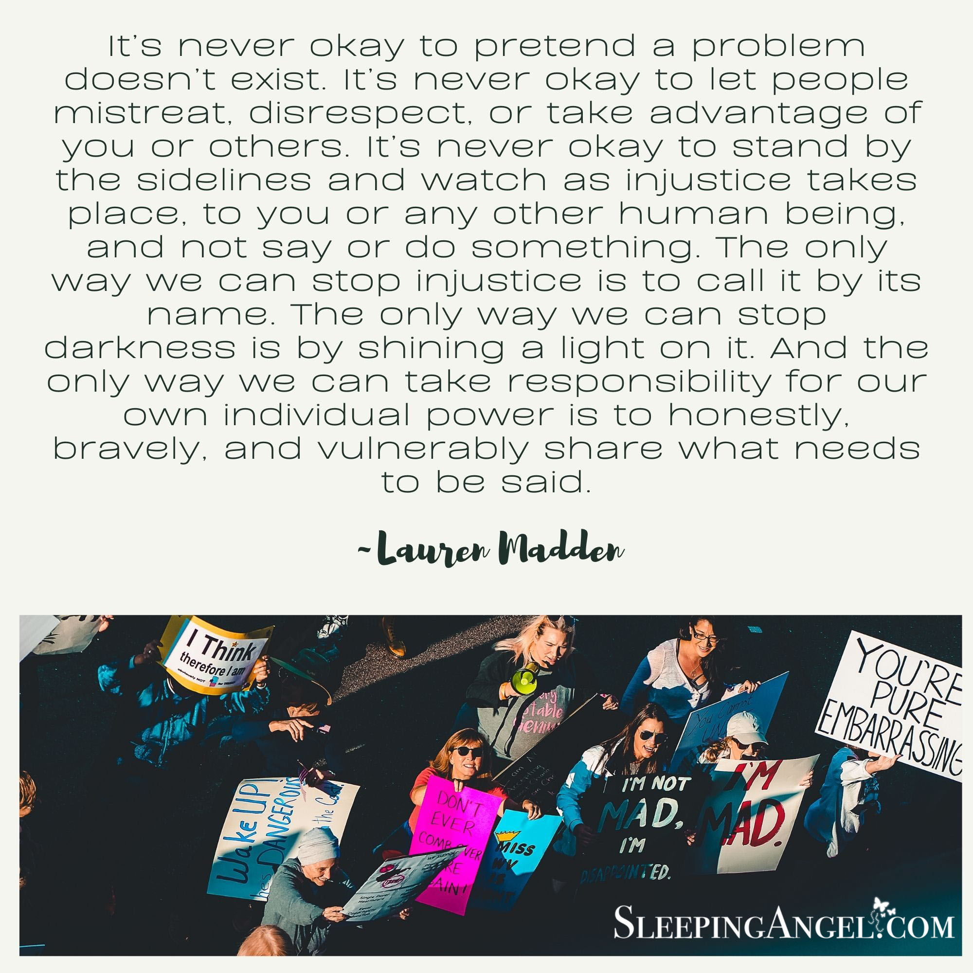 Speak Out Quote