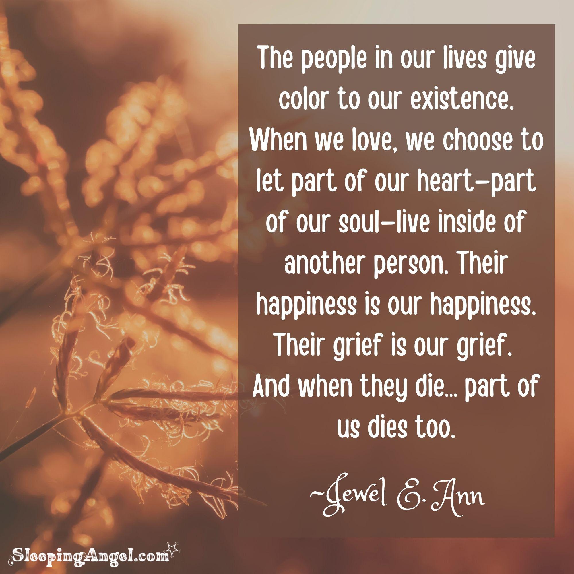 When People we Love Die Quote