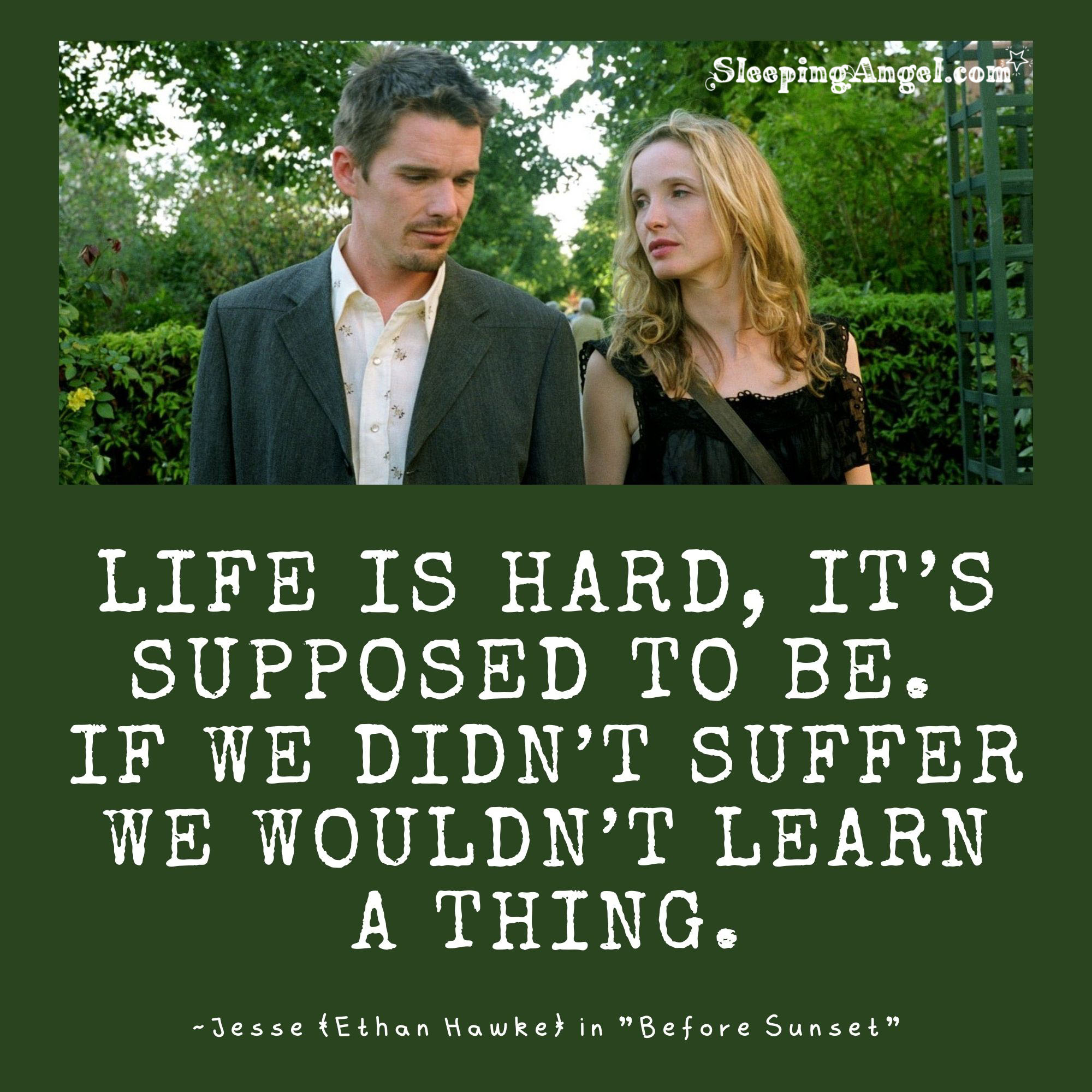 Before Sunset Quote