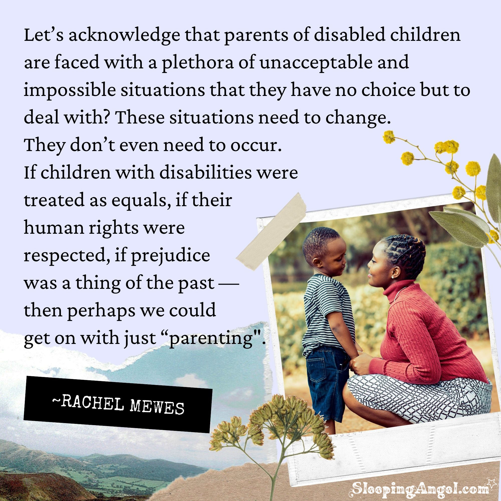 Parenting Children with Disabilities Quote