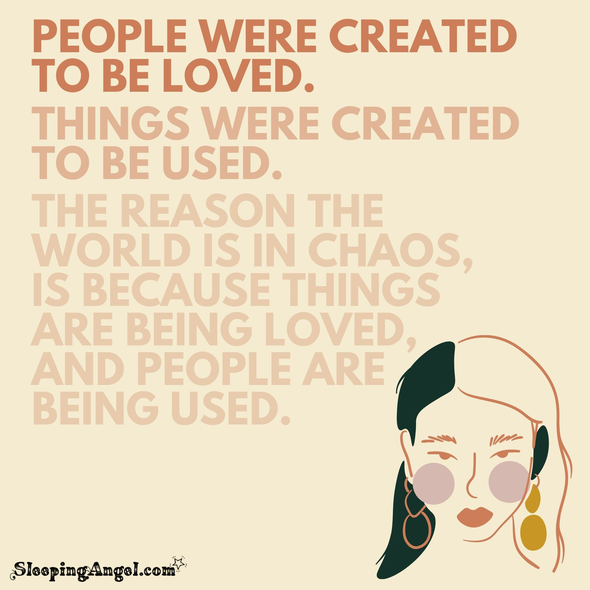 People and Things Quote