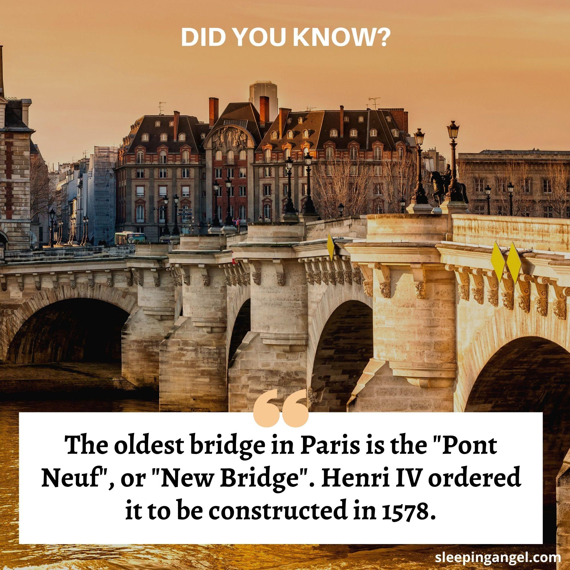 Did You Know? The Oldest Bridge in Paris