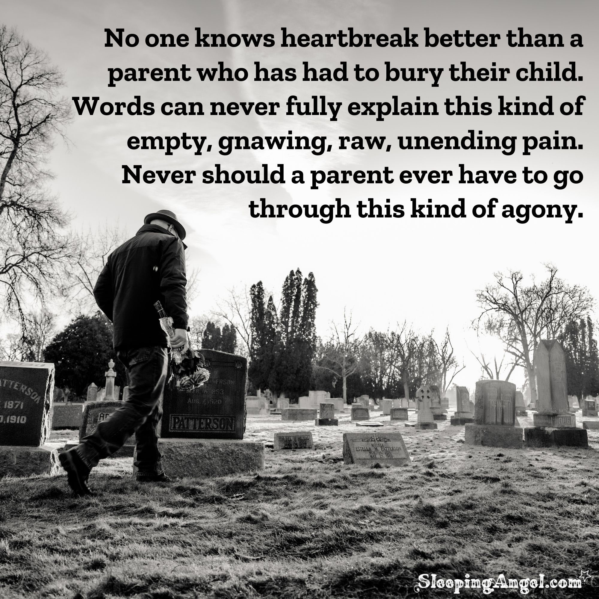 Agony of Losing a Child Quote
