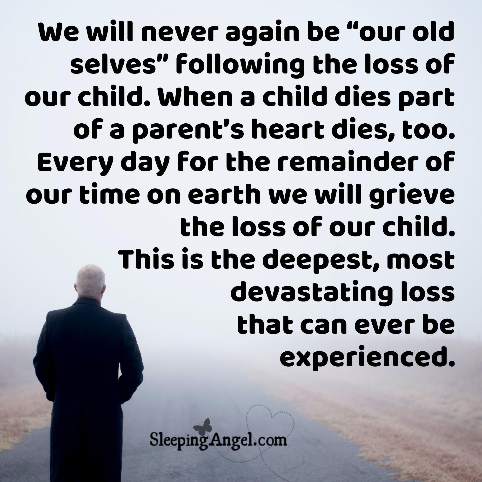 When a Child Dies Quote